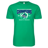 Next Level SoftStyle Kelly Green T Shirt-NCAA Division II National Champions 2017 Mens Tennis
