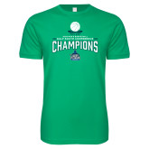 Next Level SoftStyle Kelly Green T Shirt-2018 South Conference Mens Basketball Champions
