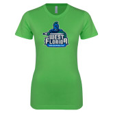 Next Level Ladies SoftStyle Junior Fitted Kelly Green Tee-West Florida Argonauts