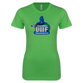 Next Level Ladies SoftStyle Junior Fitted Kelly Green Tee-UWF Argonauts