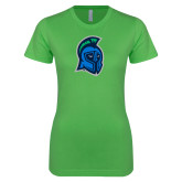 Next Level Ladies SoftStyle Junior Fitted Kelly Green Tee-Argonaut Head