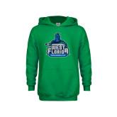 Youth Kelly Green Fleece Hoodie-West Florida Argonauts