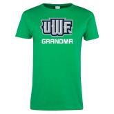 Ladies Kelly Green T Shirt-Grandma
