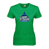 Ladies Kelly Green T Shirt-West Florida Argonauts, Custom Tee w/ Name and #