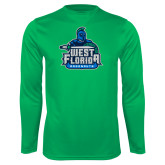 Performance Kelly Green Longsleeve Shirt-West Florida Argonauts