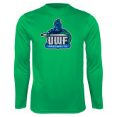 Performance Kelly Green Longsleeve Shirt-UWF Argonauts