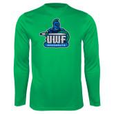 Syntrel Performance Kelly Green Longsleeve Shirt-UWF Argonauts
