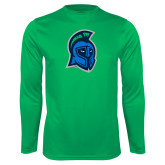 Performance Kelly Green Longsleeve Shirt-Argonaut Head