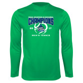 Performance Kelly Green Longsleeve Shirt-NCAA Division II National Champions 2017 Mens Tennis