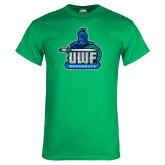 Kelly Green T Shirt-UWF Argonauts Distressed