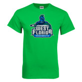 Kelly Green T Shirt-West Florida Argonauts, Custom Tee w/ Name and #