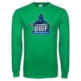 Kelly Green Long Sleeve T Shirt-UWF Argonauts