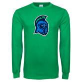Kelly Green Long Sleeve T Shirt-Argonaut Head