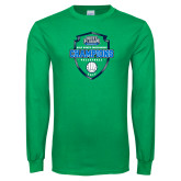 Kelly Green Long Sleeve T Shirt-2017 Volleyball Champions
