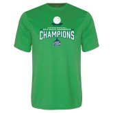 Performance Kelly Green Tee-2018 South Conference Mens Basketball Champions