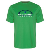 Performance Kelly Green Tee-Football Design