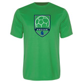 Performance Kelly Green Tee-Soccer Design
