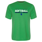 Performance Kelly Green Tee-Softball Design