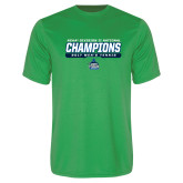 Performance Kelly Green Tee-NCAA Division II National Champions 2017 Mens Tennis