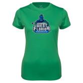Ladies Syntrel Performance Kelly Green Tee-West Florida Argonauts