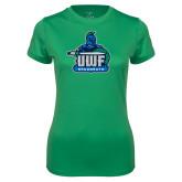 Ladies Syntrel Performance Kelly Green Tee-UWF Argonauts