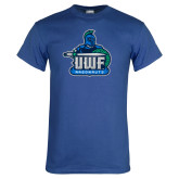Royal T Shirt-UWF Argonauts Distressed
