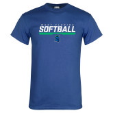 Royal T Shirt-Softball Design