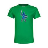 Youth Kelly Green T Shirt-Youth Mark