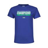Youth Royal T Shirt-NCAA Division II National Champions 2017 Mens Tennis