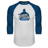 White/Royal Raglan Baseball T Shirt-West Florida Argonauts