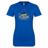 Next Level Ladies SoftStyle Junior Fitted Royal Tee-West Florida Argonauts