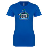 Next Level Ladies SoftStyle Junior Fitted Royal Tee-UWF Argonauts