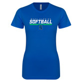 Next Level Ladies SoftStyle Junior Fitted Royal Tee-Softball Design