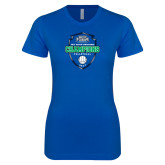 Next Level Ladies SoftStyle Junior Fitted Royal Tee-2017 Volleyball Champions