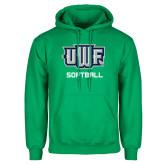 Kelly Green Fleece Hoodie-Softball