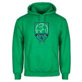 Kelly Green Fleece Hoodie-Soccer Design