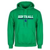 Kelly Green Fleece Hoodie-Softball Design