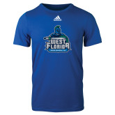 Adidas Royal Logo T Shirt-West Florida Argonauts