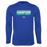 Syntrel Performance Royal Longsleeve Shirt-NCAA Division II National Champions 2017 Mens Tennis