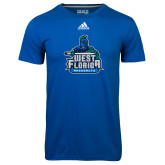 Adidas Climalite Royal Ultimate Performance Tee-West Florida Argonauts
