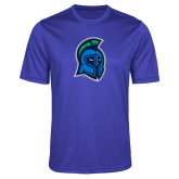 Performance Royal Heather Contender Tee-Argonaut Head