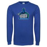 Royal Long Sleeve T Shirt-UWF Argonauts Distressed