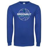 Royal Long Sleeve T Shirt-Basketball Design