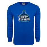 Royal Long Sleeve T Shirt-West Florida Argonauts, Custom Tee w/ Name and #
