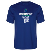 Performance Royal Tee-Basketball Design