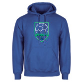 Royal Fleece Hoodie-Soccer Design