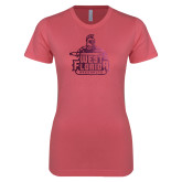 Next Level Ladies SoftStyle Junior Fitted Pink Tee-West Florida Argonauts