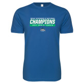 Next Level SoftStyle Royal T Shirt-NCAA Division II National Champions 2017 Mens Tennis