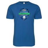 Next Level SoftStyle Royal T Shirt-2017 Volleyball Champions