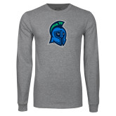 Grey Long Sleeve T Shirt-Argonaut Head